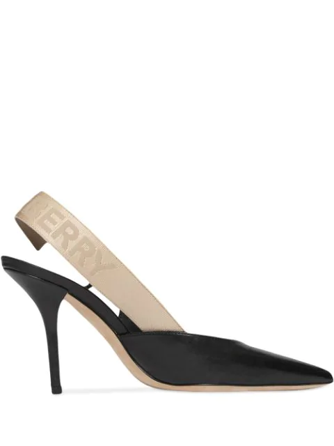 Burberry Women's Maria Slingback Pointed-toe Pumps In Black