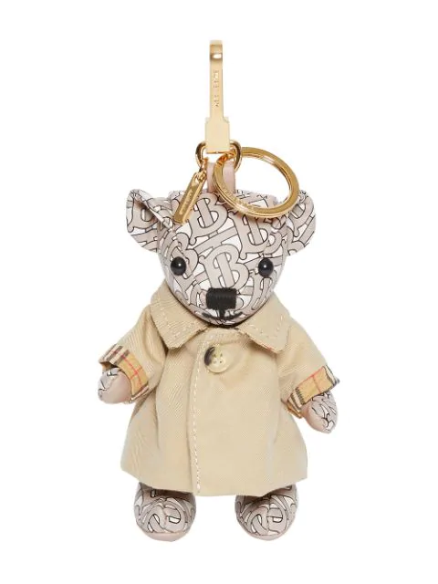 Burberry Thomas Monogram Trench Coat Key Chain In Neutrals