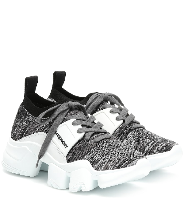 Givenchy Low-Top Sneakers Jaw Knittet In Wht.&Blk.