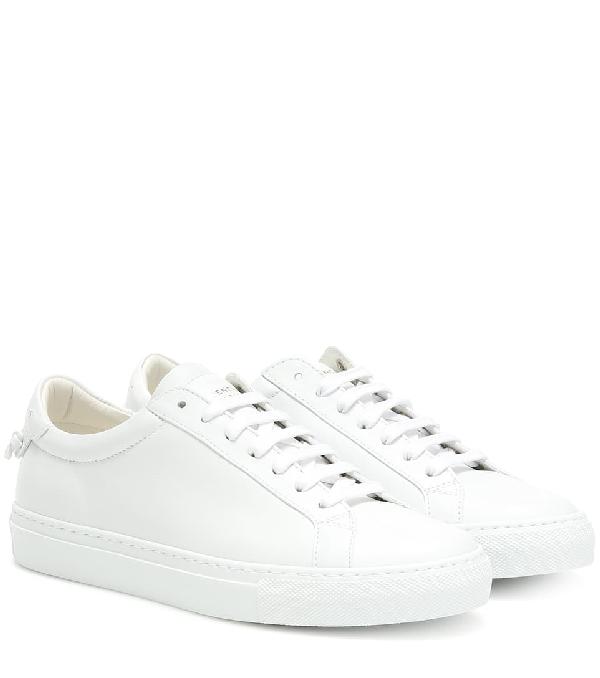 Givenchy White Logo Laces Urban Street Sneakers In 104 White