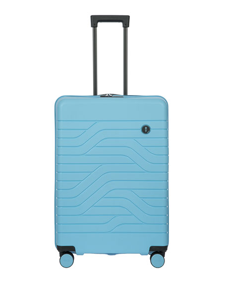 """Bric's B/Y Ulisse 28"""" Expandable Spinner Luggage In Sky Blue"""