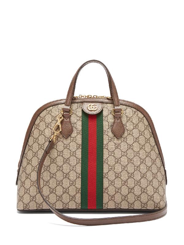 Gucci Ophidia Gg Supreme Tote Bag In Brown