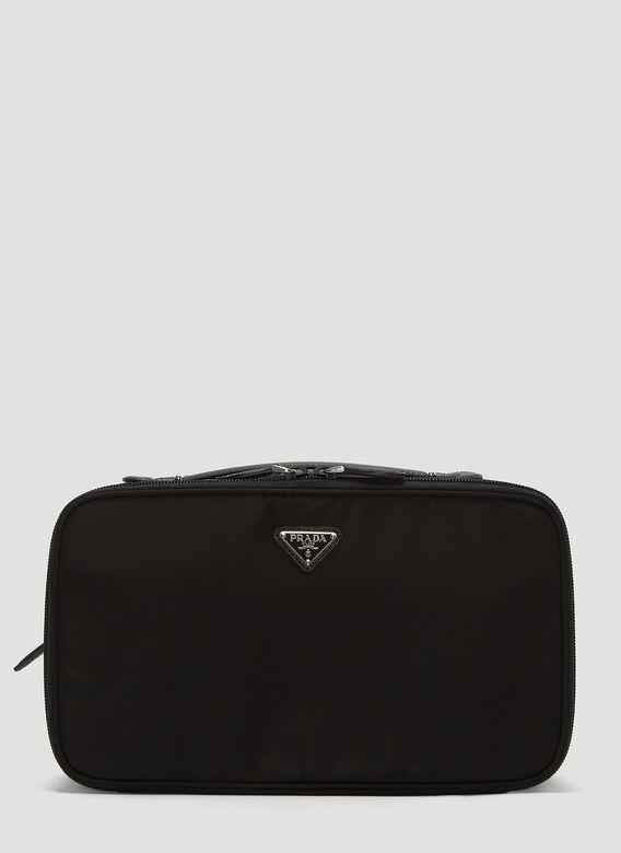 Prada Nylon Beauty Bag In Black
