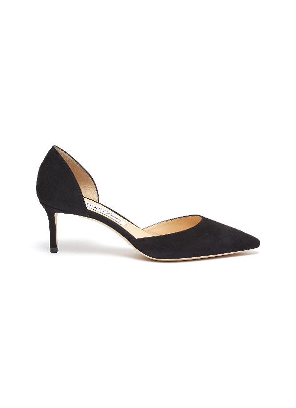 Jimmy Choo 'esther 60' Suede D'orsay Pumps In Black