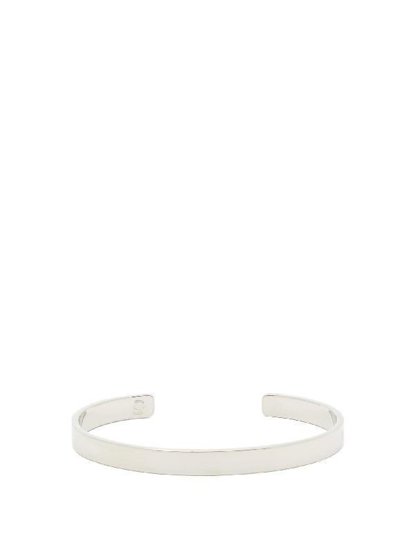 Maison Margiela Number-engraved Sterling-silver Bracelet