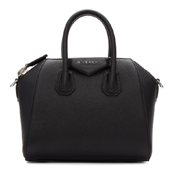 Givenchy Antigona Mini Leather Duffel Bag - Black In 001 Black