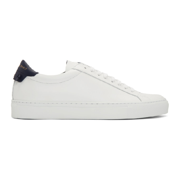 Givenchy Urban Street Two-tone Leather Sneakers In 131-wht/vy