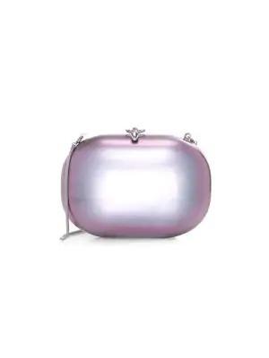 Jeffrey Levinson Elina Gloss Clutch In Purple