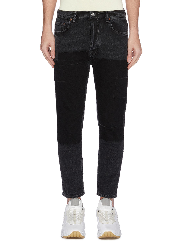 Acne Studios 'River' Patchwork Cropped Jeans