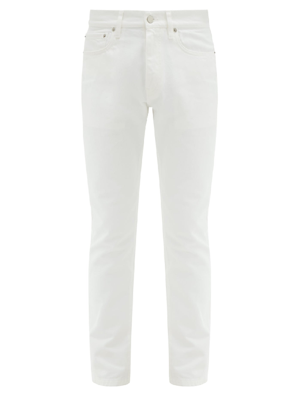 Dunhill Mid-rise Straight-leg Jeans In White