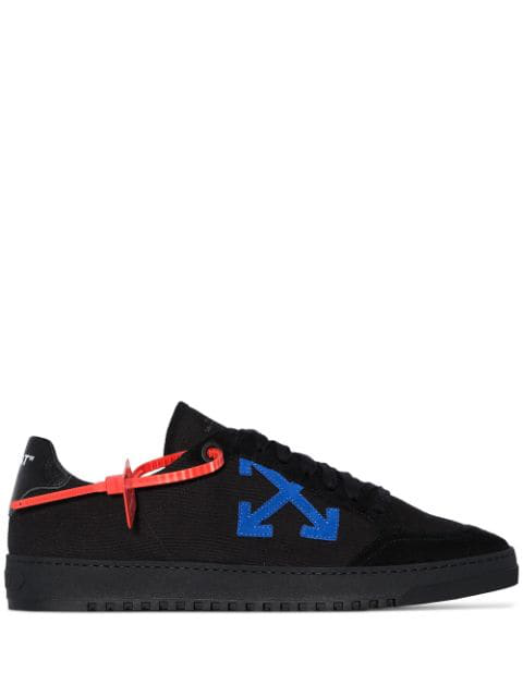 Off-White 2.0 Logo-AppliquÉ Low-Top Canvas Trainers In Black