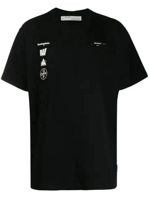 Off-white T-shirt Mariana De Silva In Cotone Con Stampa In Blk Multi
