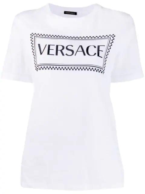 Versace 复古风Logo T恤 - 白色 In White