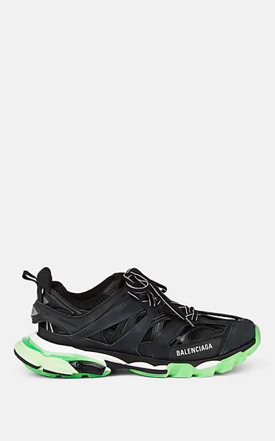 Balenciaga Black & Green Glow-In-The-Dark Track Sneakers