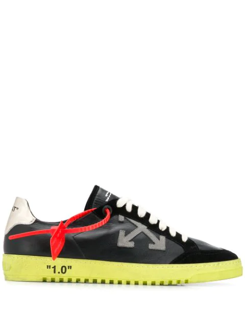 Off-white 2.0 Low Leather And Suede Trainers In Black