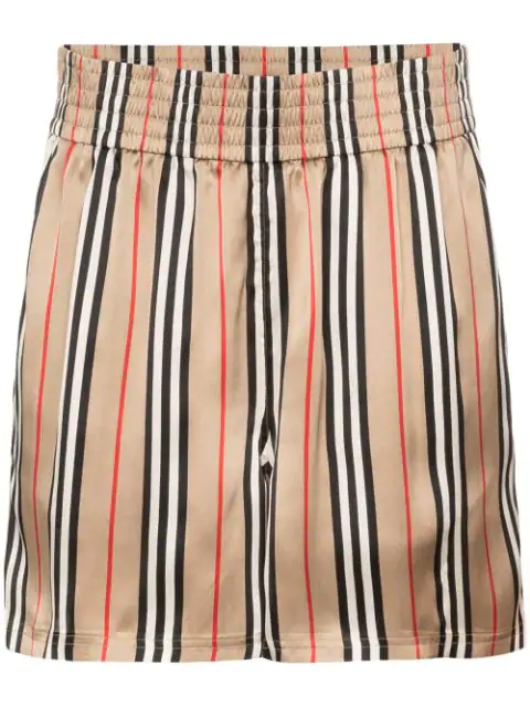 Burberry Marsett Icon Striped Shorts - 大地色 In Neutrals