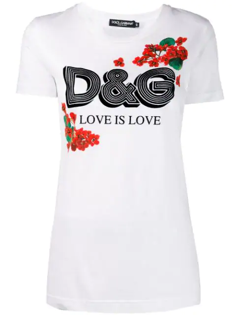 Dolce & Gabbana Dolce And Gabbana White Geranium T-Shirt In W0800 White