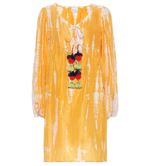 Anna Kosturova Exclusive To Mytheresa - Tie-Dye Silk Dress In Yellow