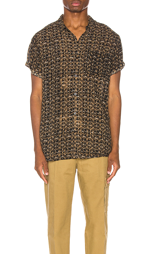 Rolla's Beach Boy Sun God Shirt In Black Gold