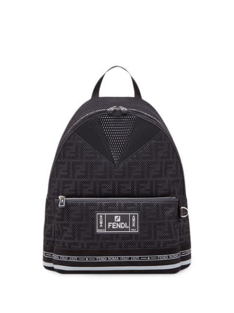 Fendi Ff Logo Tech Backpack - Schwarz In Black