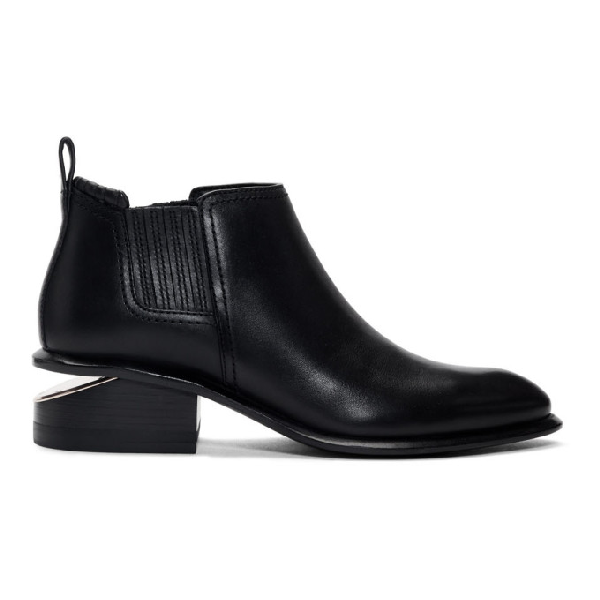 Alexander Wang 'kori' Cutout Heel Leather Chelsea Boots In 001 Black
