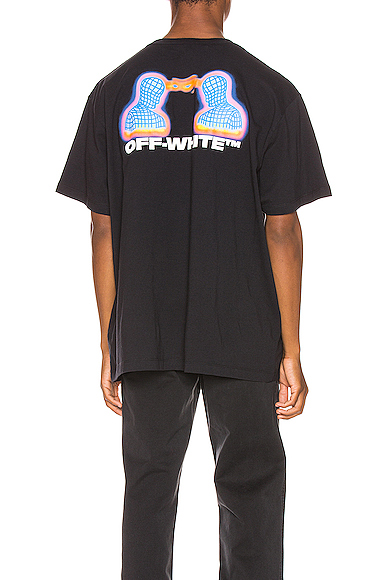 Off-White Thermo Man-Print Cotton T-Shirt In Black Multi