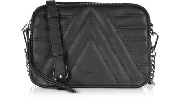 Lancaster Parisienne Matelassé Quilted Leather Shoulder/belt Bag In Black