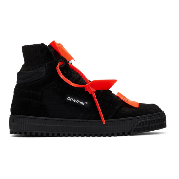 Off-white Off-court 3.0 Suede, Leather And Canvas High-top Sneakers In 1000 Blknoc