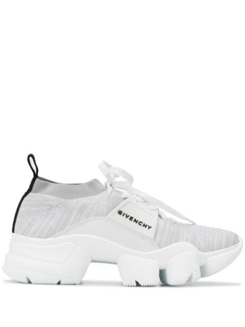 Givenchy Jaw Leather, Rubber And Mesh Sneakers In White