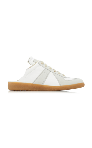 Maison Margiela Backless Leather Sneakers In T1016 Dirty