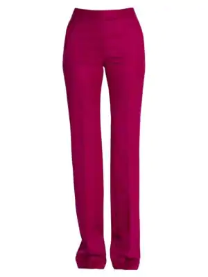 Stella Mccartney All Together Now Wool Twill Trousers In Purple