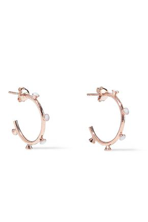 Aamaya By Priyanka Woman Nomad 18-karat Rose Gold-plated Stone Hoop Earrings Rose Gold