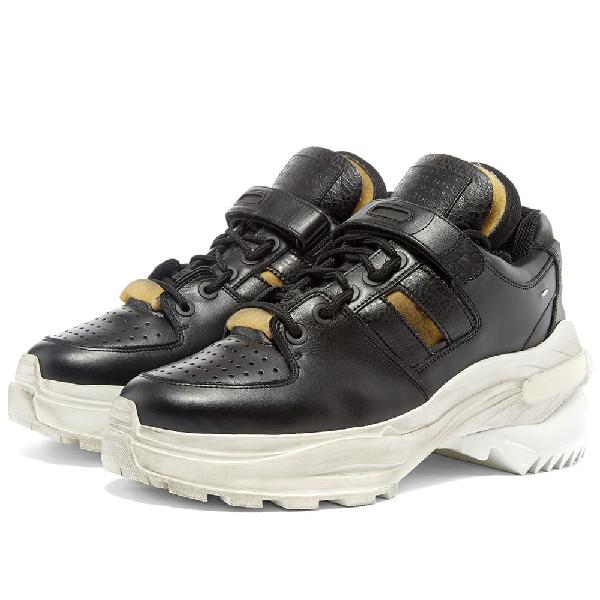 Maison Margiela Martin Margiela Retro Fit Low Top Sneakers In T8013 Black