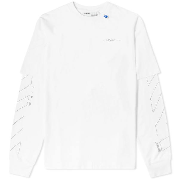 c574fc5f Off-White Men's Diagonal Unfinished-Sleeve T-Shirt In White | ModeSens