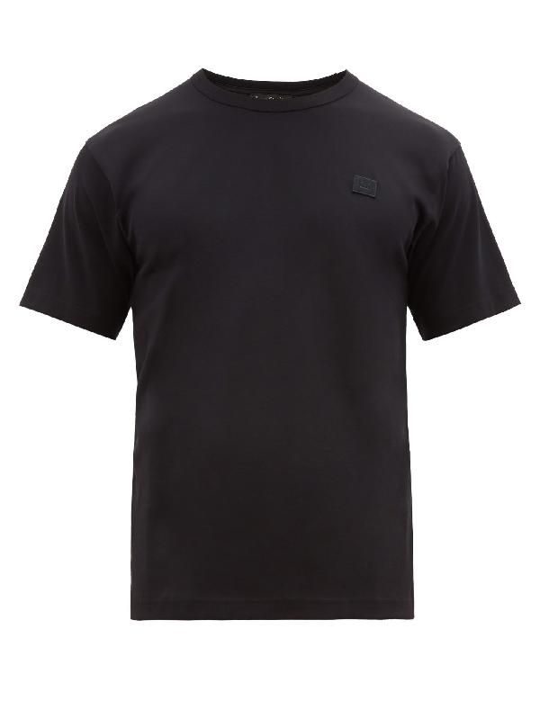 Acne Studios Nash Logo-appliquéd Cotton-jersey T-shirt In Black
