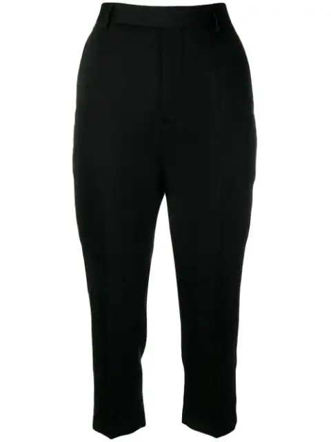 Rick Owens Tailored Cropped Trousers In Black