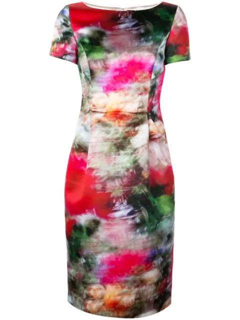 Adam Lippes Duchesse Satin Sheath Dress In Multicolour