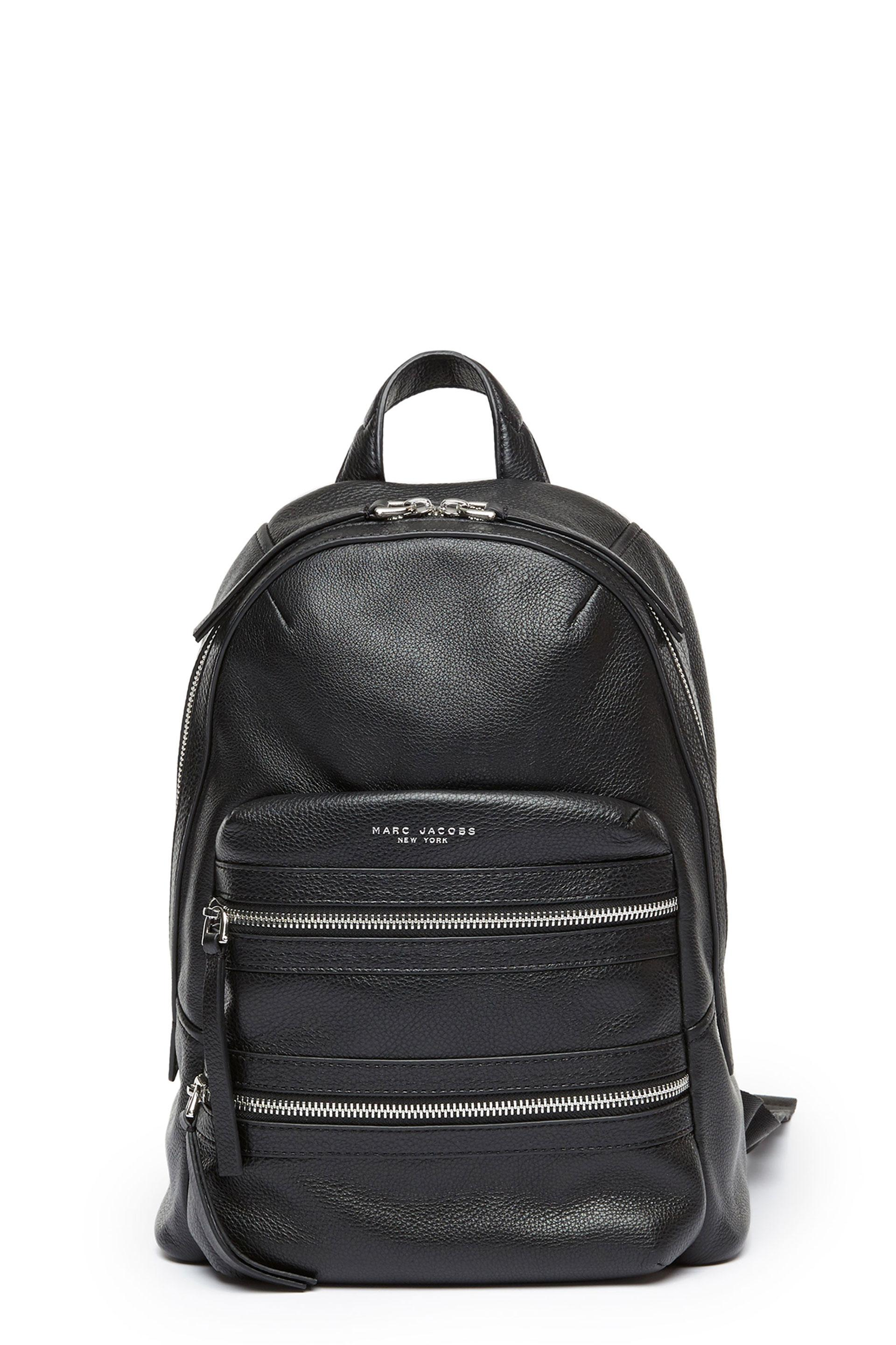 1c79e2e4df1a Marc Jacobs Biker Leather-Trimmed Shell Backpack In Black