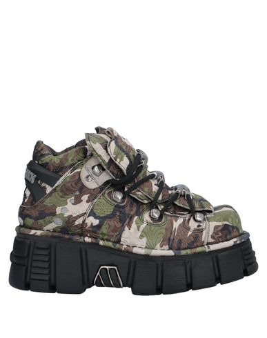New Rock Sneakers In Military Green