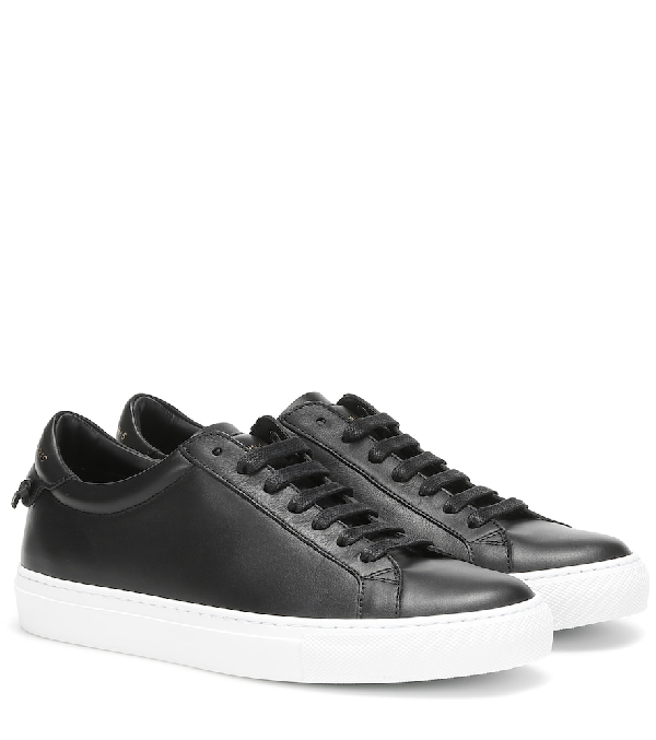 Givenchy Urban Street Matte Leather Trainers In 001 Black