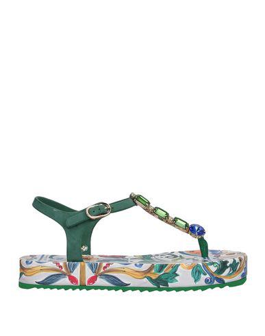 Dolce & Gabbana Flip Flops In Dark Green