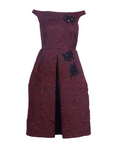 Rochas Short Dress In Deep Purple