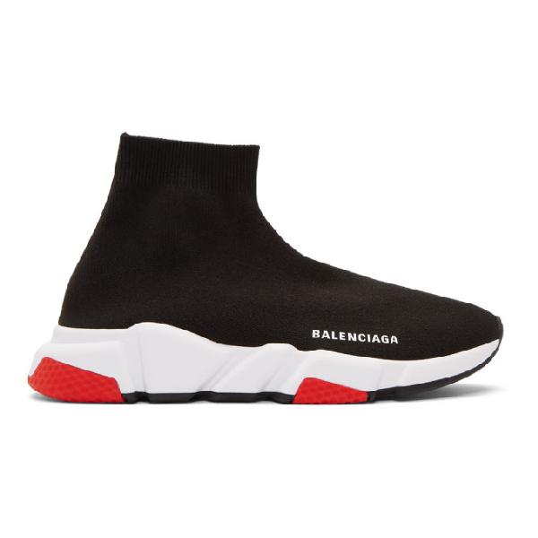 Balenciaga 黑色 And 红色 Speed 运动鞋 In 1000 Black