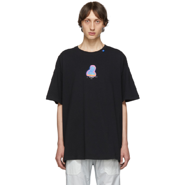 Off-white Thermo Man-print Cotton T-shirt In 1088 Blkmul