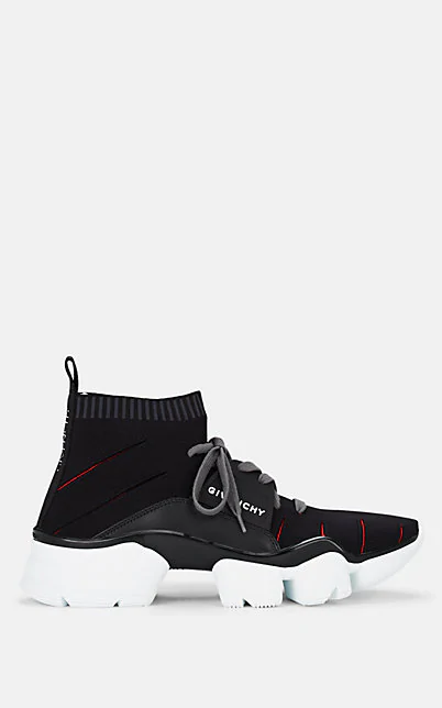 Givenchy Jaw Logo-Detailed Mesh And Leather Sneakers In Black