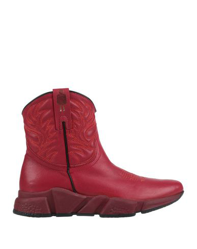 Texas Robot Ankle Boot In Red