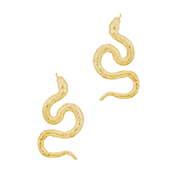 Natia X Lako 24kt Gold-plated Snake Earrings