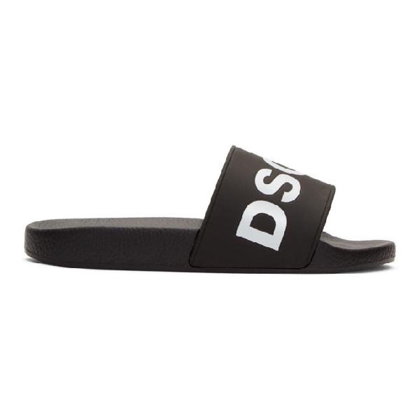 Dsquared2 黑色 Dune 拖鞋 In M063-Nero B