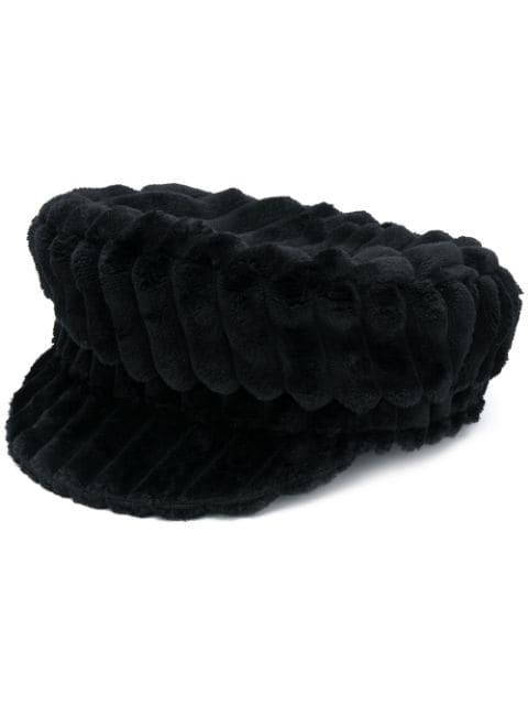 Isabel Marant Evie Fleece Baker Boy Hat In Black