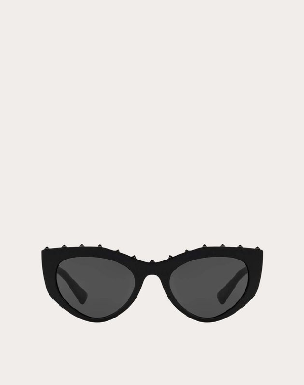 Valentino Occhiali Cat-eye Acetate Sunglasses With Studs In Black